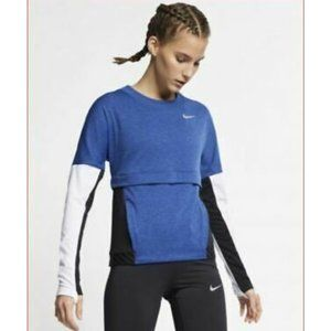 Blue Nike Long Sleeve Workout Top with Pockets!